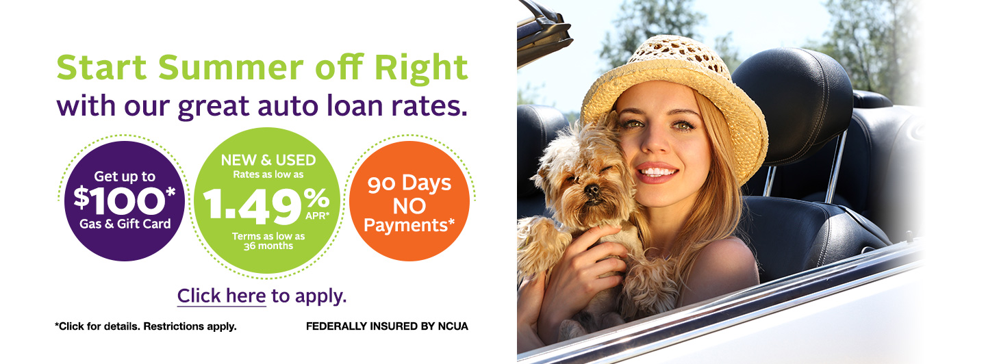 Summer auto loan promotion
