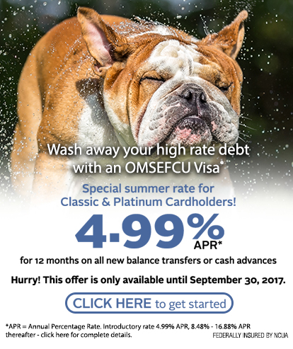 Visa Promotion: 4.99% APR for 12 months on balance transfers or cash advances