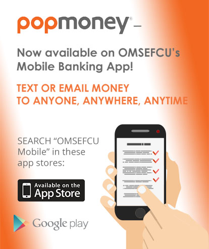 Use PopMoney inside our mobile banking app, just search